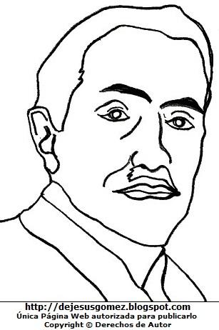 Dibujo de Santiago Antúnez de Mayolo para colorear pintar imprimir. Dibujo de Santiago Antúnez de Mayolo de Jesus Gómez