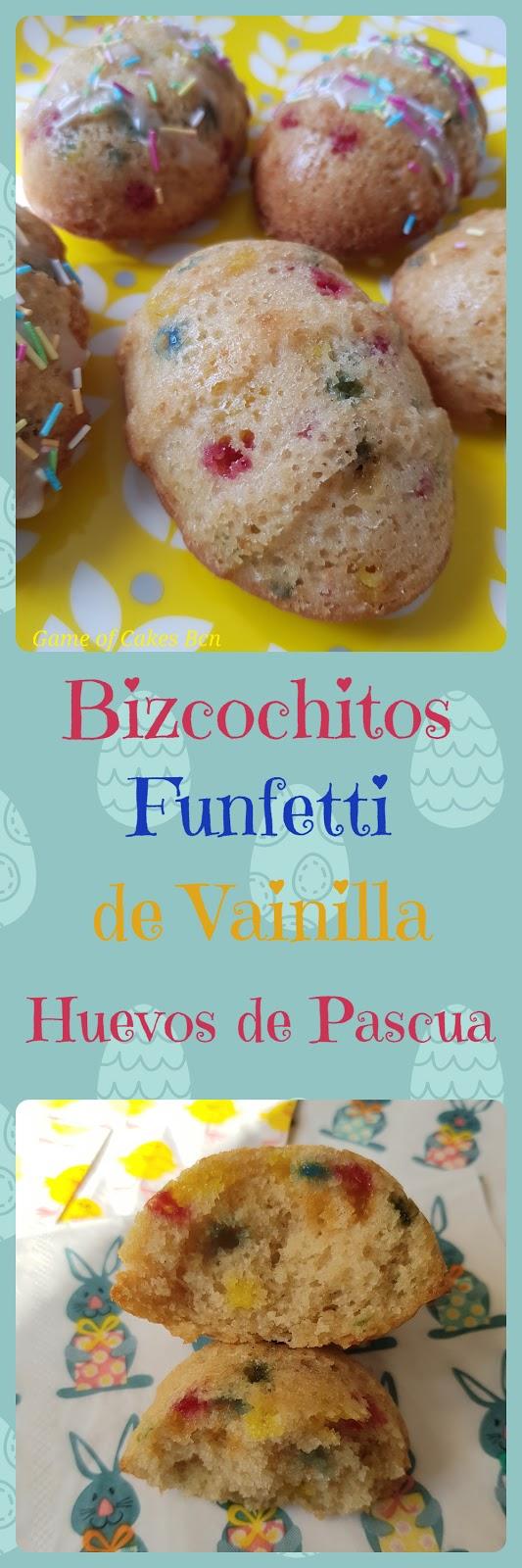 Bizcochitos funfetti huevos de Pascua Game of Cakes Bcn