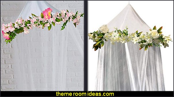 Rose Flowers bed canopy  Bed canopy -  Bed Canopies - Bed Crown - Mosquito Netting - Bed Tents - Canopy Beds - Post Bed Canopies - Luxury Canopy netting   - girls bed canopy - Bed Curtains - Curtain Canopy