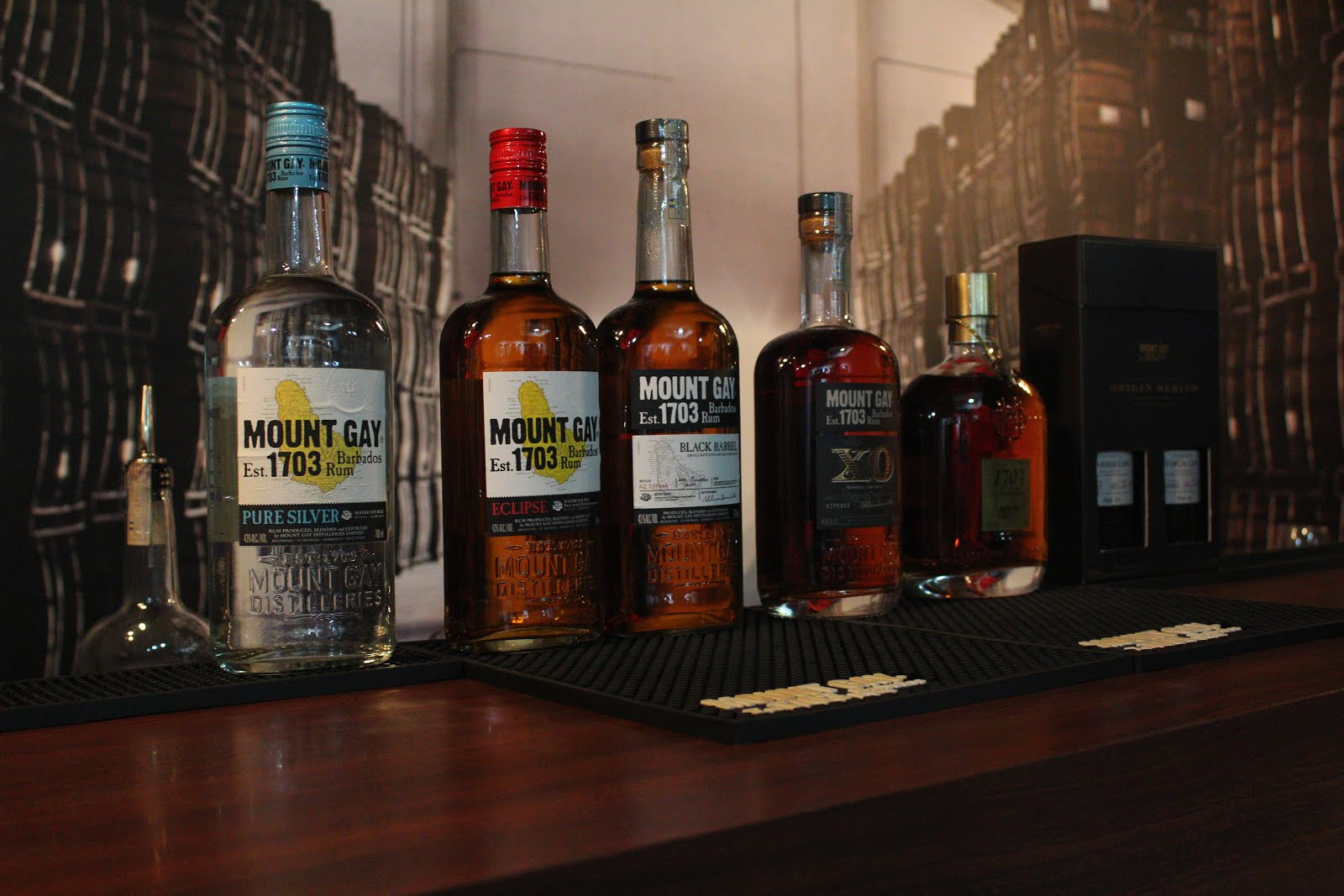 Mount Gay Rum Selection at the Visitor Centre