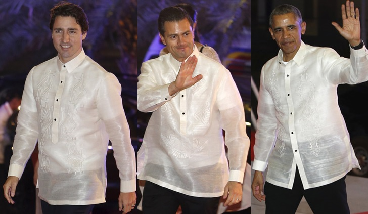 In Photos World Leaders In Barong Tagalog During Apec 2015