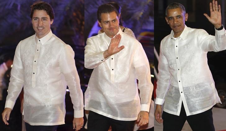 Trudeau, Nieto and Obama APEC Manila