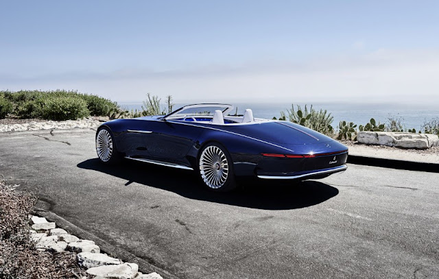 Vision Mercedes-Maybach 6 Cabriolet a luxury superyacht for the road in Pebble Beach