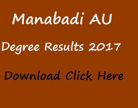 au results 2017 manabadi