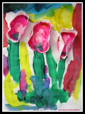 photo of: Spring Art Project for Children at RainbowsWithinReach