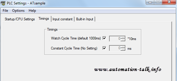 CP1L Cycle Time Error
