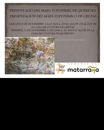Presentación del mapa toponímico de Cretas