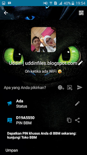 BBM Mod Themes Night Fury V3.1.0.13 Unclone APK