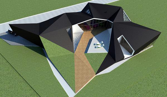 ide contoh Atap origami