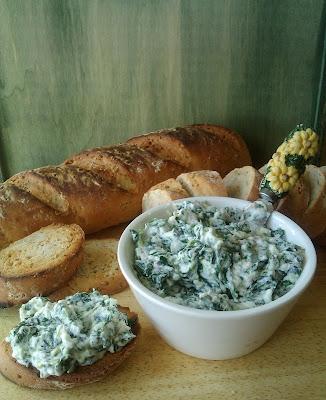 Dip de espinacas cocina sana baja en calorias light yogur griego light vegetariana vegana untable crudites