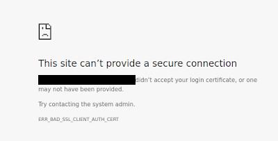 Cách fix lỗi ERR_BAD_SSL_CLIENT_AUTH_CERT trên Google Chorme
