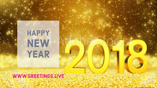 Gold Sparkling background New Year Picture Messages from greetings.live