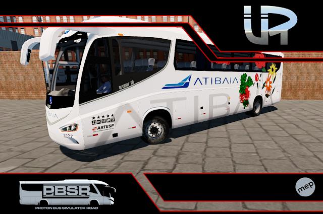 Skin Proton Bus Simulator Road - Irizar I8 Volvo B410R Viação Atibaia