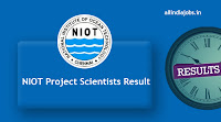 NIOT Project Scientists Result