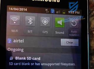 Kartu SD Kosong atau Memiliki Sistem File Tidak Didukung