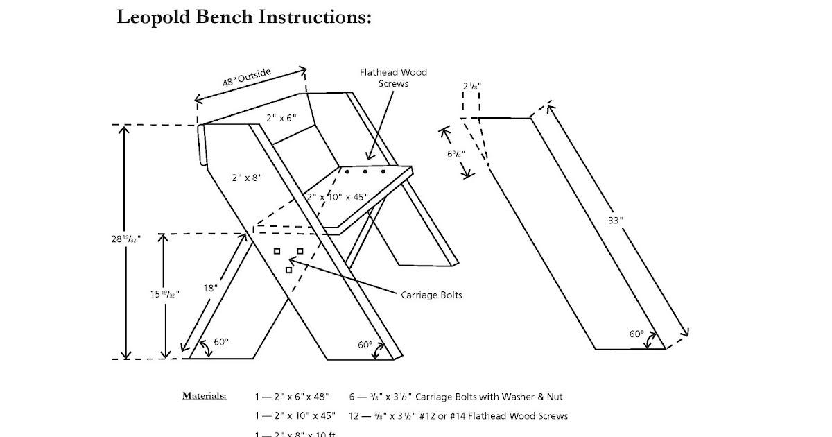 Crafts: Aldo Leopold Bench Plans