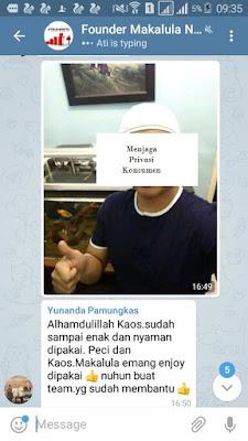 Kaos Makalula penghilang bau badan anti bakteri satu satunya di indonesia