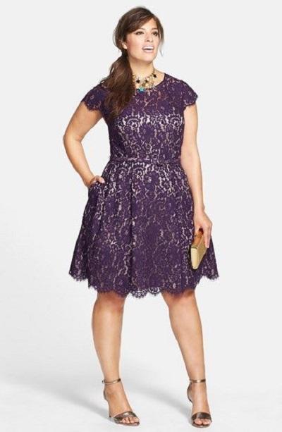 model dress brokat untuk wanita gemuk