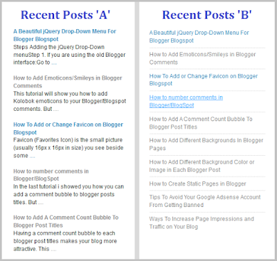 Blogger ah Simple Recent Post Widget Siam Dan