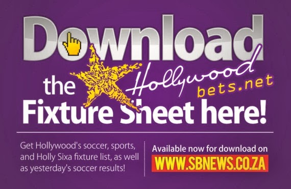 Download the Hollywoodbets Soccer Fixture