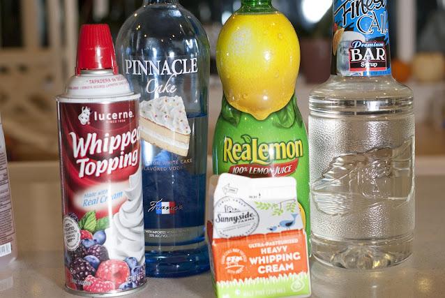 lemon meringue pie, cake vodka, vodka, lemon juice, simple syrup, cream