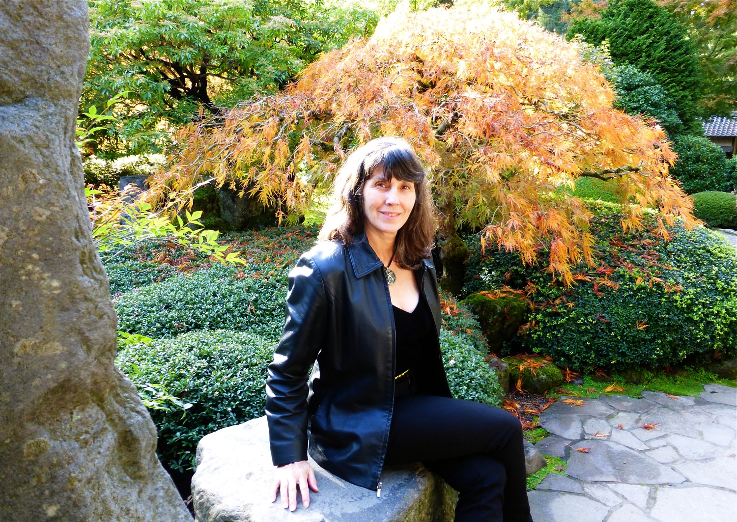 June Anderson of Under The Plum Blossom Tree blog at Portland Japanese Garden