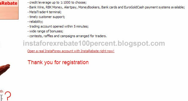 register instaforex rebate