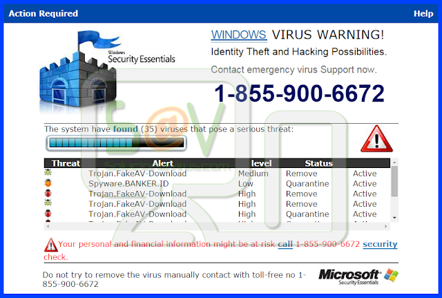 Securitywinit.info pop-ups (Falso soporte)