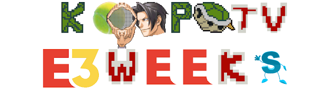 KoopaTV logo E3 Weeks 2018 tennis ball Miles Edgeworth Electronic Entertainment Expo