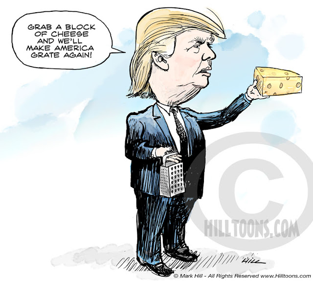 Trump Make America Grate Again cartoon