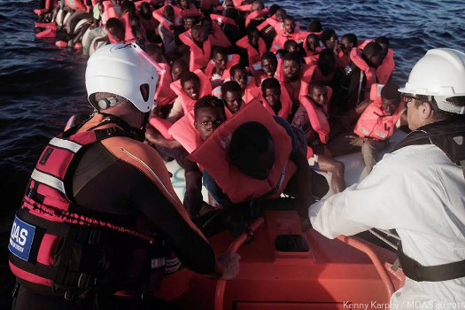 Photos: Another tragedy evaded as 273 African migrants are rescued today in the Mediterranean