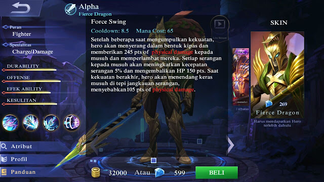 Alpha, Jenis Hero Dalam Game Mobile Legends