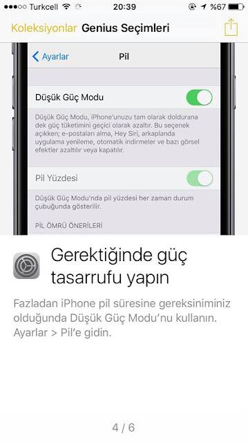iPhone 7 Şarj ayarları ve özellikleri