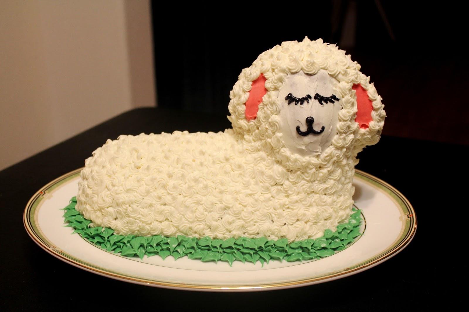 Pretty Handsome: Baa, Baa Lamb Cake