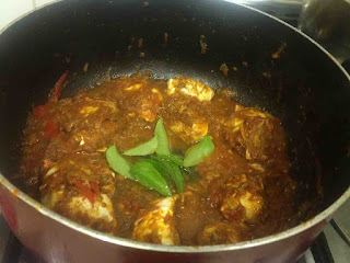 making of crab masala