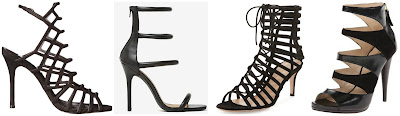 One of these pairs of caged heels is from Gianvito Rossi for $1,295 and the other three are under a tenth of that price. Can you guess which one is the designer pair? Click the links below to see if you are correct!