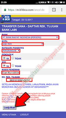 internet banking bca tidak bisa tambah daftar transfer