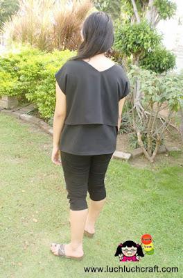 baju hitam simpel