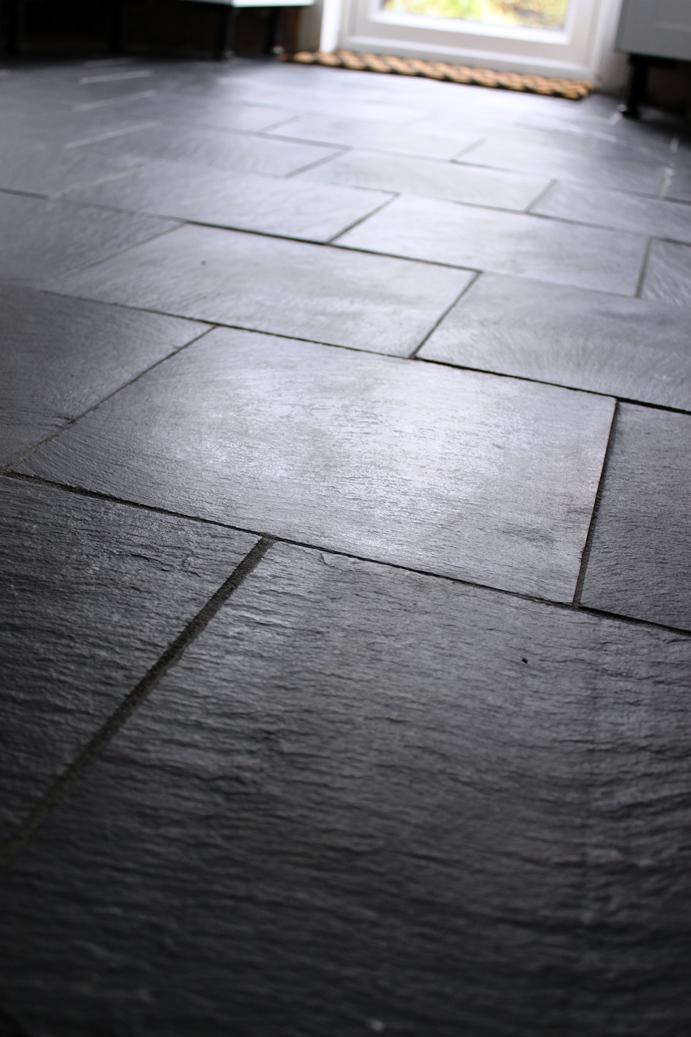 Progress Report Laying Slate Tiles With Underfloor