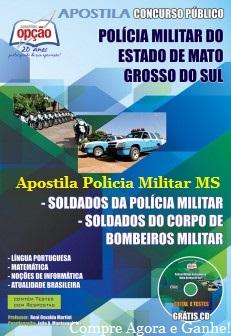 Apostila Polícia Militar-MS (PM/MS) Soldado Militar e Bombeiro