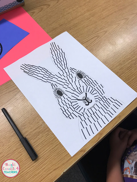 This easy pop art bunny art project is sure to make your classroom ready for spring