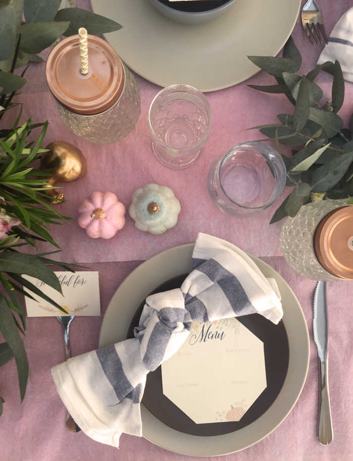 Valentina Vaguada: eucalipto, hydrangea, table setting, tableware, stationary, thanksgiving, thanksgiving table, table set, party planner, dinner