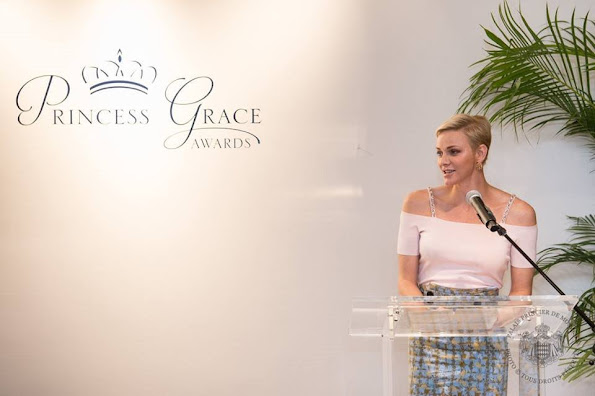 Christian Dior Skirt, Princess Charlene, Prince Albert, New York Cartier Shop, store, Princess Grace