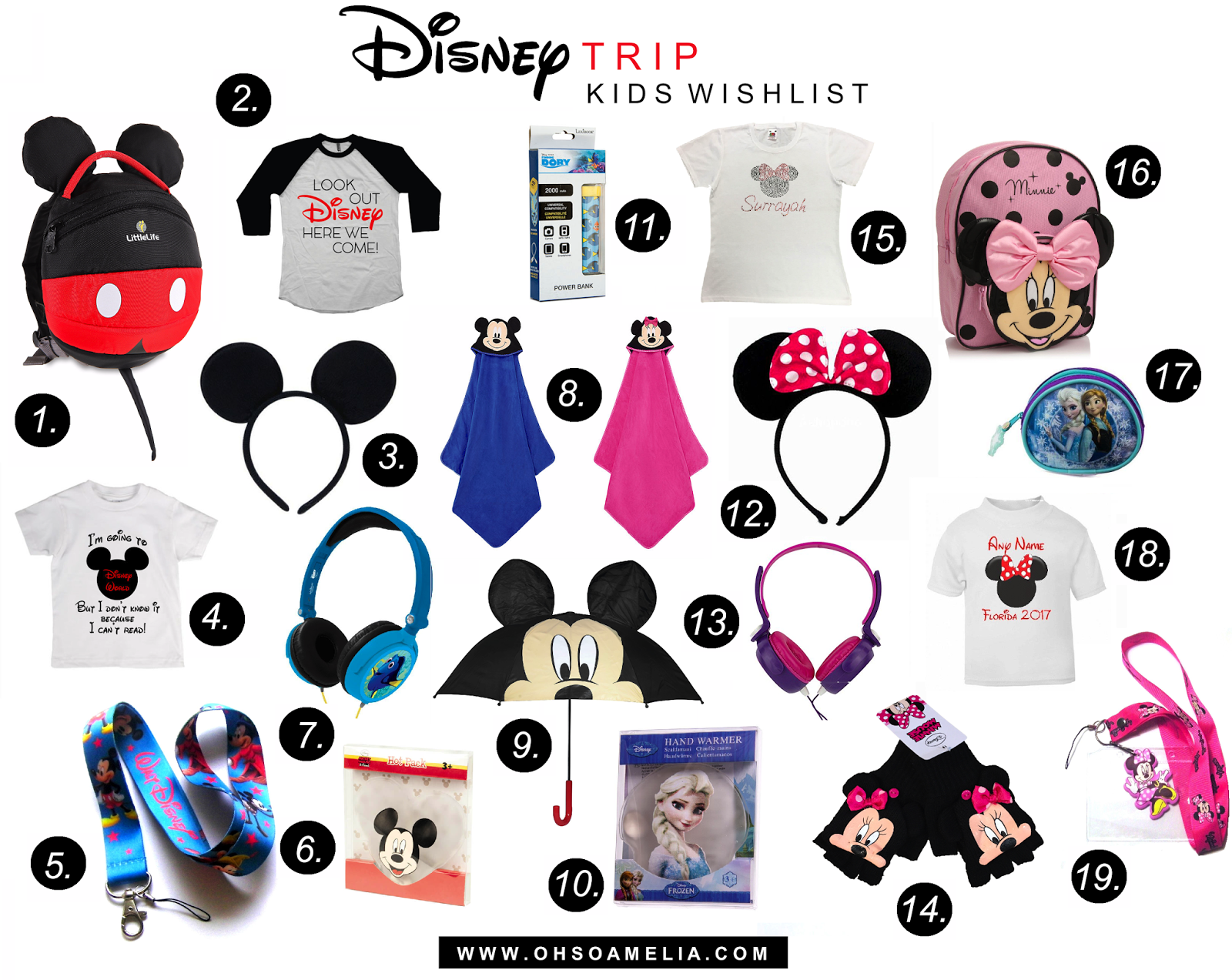 Essentials and favourites for travelling to Disney with kids