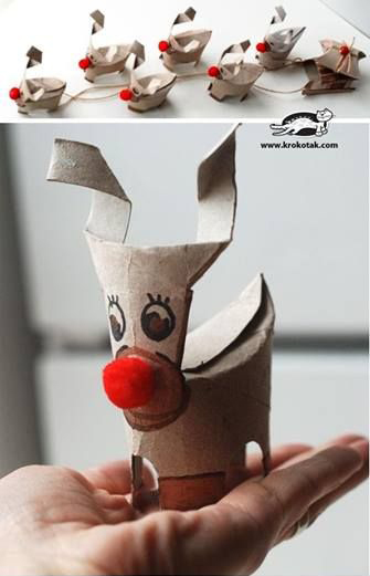 Tissue Roll Reindeer