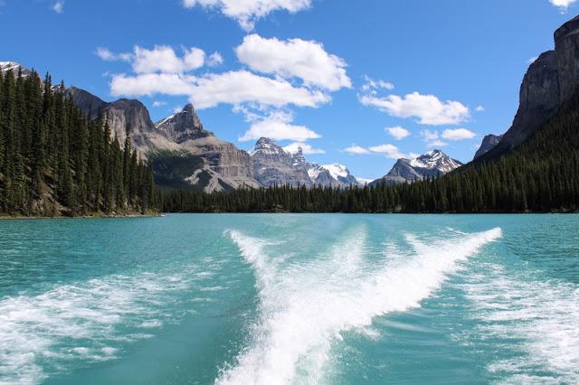 Behind the Boat at Banff National Park