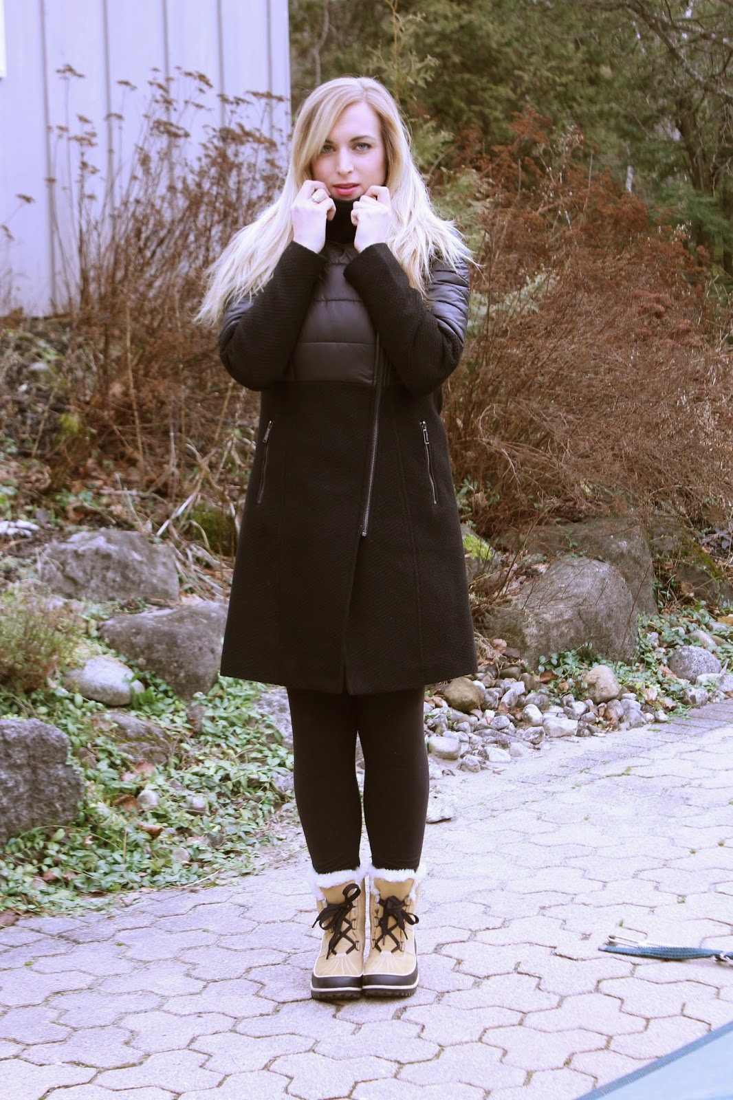 how to style a winter puffer coat
