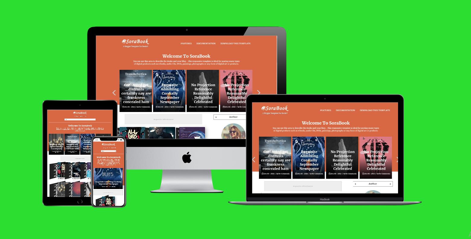SoraBook Premium Blogger Template