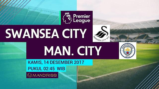 Manchester City bertekad meraih kemenangan demi menjaga puncak klasemen Berita Terhangat Prediksi Bola : Swansea City Vs Manchester City , Kamis 14 Desember 2017 Pukul 03.00 WIB