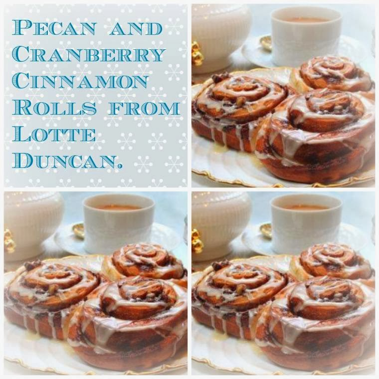 Pecan And Cranberry Cinnamon Rolls From Lotte